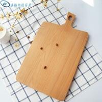 榉木实木砧板菜板面包板披萨板水果板牛排托盘小孩辅食板原木拼接家用厨具日用砧板