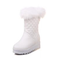 韩版大童棉靴公主靴儿童雪地靴小女孩童鞋秋冬季新款白色女童靴子