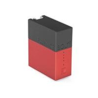 手机充电宝 创意迷你充电宝超小巧可爱便携移动电源苹果安卓通用自带插头 红 二代