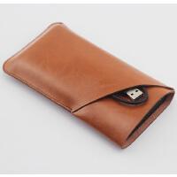 电宝保护套 收纳包移动电源保护袋子双层皮套 立体款 黄棕