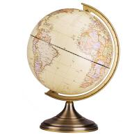 得力(deli) 2177 双面刻度20cm世界地球仪/商务礼品 仿古风格 办公摆件 黄色当当自营