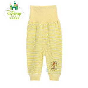 【3件4折】迪士尼Disney 婴幼儿保暖内衣纯棉条纹高腰护肚裤153K663