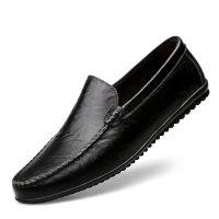 男鞋子秋季韩版潮流懒人鞋2018新款豆豆鞋男加绒男士休闲皮鞋