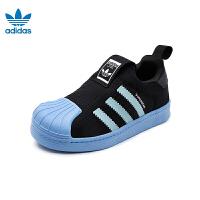 【秒杀价:259元】阿迪达斯Adidas童鞋18新款三叶草经典贝壳头小童运动鞋男童休闲鞋 (5-10岁可选) AQ02