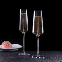 汉馨堂 香槟杯 欧式水晶玻璃红酒杯家用创意香槟杯鸡尾酒杯葡萄酒杯玻璃可定制高脚杯
