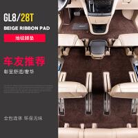专用于2017-18款别克GL8丝圈脚垫 28T全包围地毯25S皮革双层地胶
