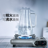 冷水壶 玻璃水壶耐热耐高温防爆大容量透明凉水杯家用套装 凉水壶