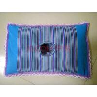 纯棉粗布护耳枕单孔睡眠护耳枕头经济舒服内填荞麦壳