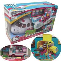 hello kitty �P蒂�救援�w�C+救�o�玩偶女孩�和��^家家玩具�Y物�P蒂�大�w�C大客�C校�@巴士 快餐�