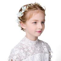 春夏新款儿童皇冠头饰公主发梳水钻发卡珍珠发箍六一演出发饰边夹2509 花色