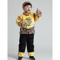 儿童唐装婴儿周岁礼服男宝宝唐装女冬中国风红色百天满月服套装 80(建议身高66-73CM 6个月-1岁 [吊