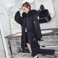 羽绒女中长款冬季新款棉衣女学生宽松韩版加厚棉袄外套潮