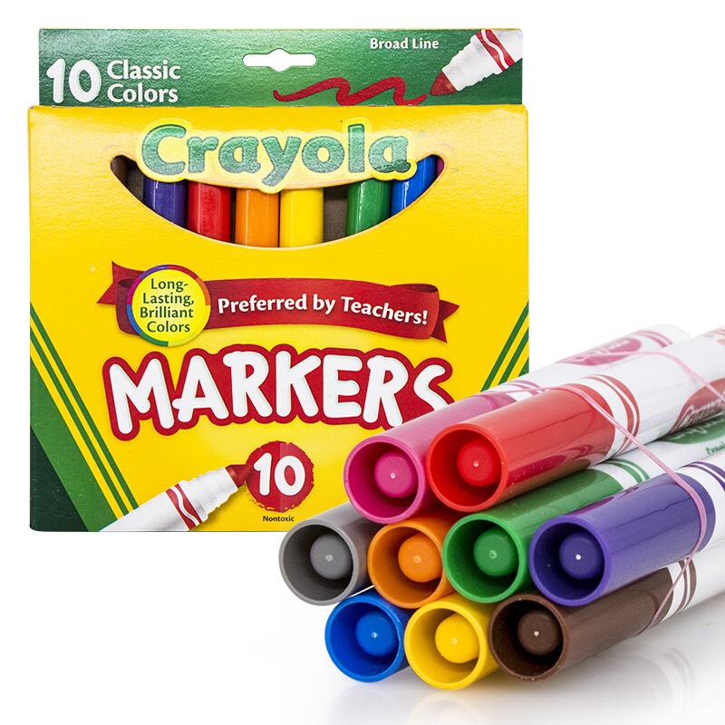 Crayola绘儿乐 58-7722 粗头10色水彩笔 当当自营