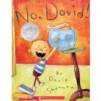 英文绘本 原版进口 No, David! 大卫,不可以。美国凯迪克大奖,大卫香农名作绘本 [3-6岁]