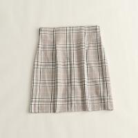 秋装新女格纹半身裙 高腰日系显瘦包臀裙裤打底短裙 7K