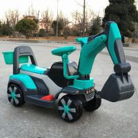 新款儿童可坐可骑挖掘机男孩玩具车大号电动挖土机钩机挖挖工程车