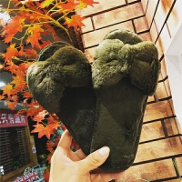 秋冬季新款棉拖鞋女包跟厚底毛绒保暖棉鞋家居家防滑简约外穿豆豆