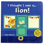 原装正版 英语绘本机关书 I thought I saw a lion游戏互动操作纸板书 3-6岁
