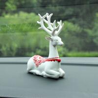 车内饰品摆件一路平安小鹿汽车装饰车载可爱个性车上用品