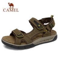 camel 骆驼男鞋 夏季户外运动旅游时尚牛皮凉鞋 轻盈缓震沙滩鞋凉鞋