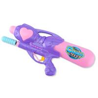 公主水枪玩具喷水枪男孩抽拉式呲水枪儿童夏戏水玩具气压水枪女孩 紫色 送小水枪+雨衣 标准配置