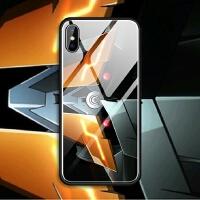 苹果iphoneX 6s 7 8 plus 5se蓝光玻璃手机壳机动战士高达眼睛