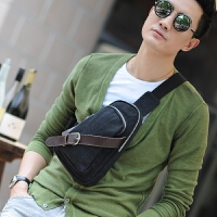 男包包胸包休闲包斜挎包韩版潮包 帆布包男士骑行手机小包单肩