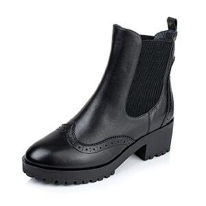 【百丽集团夏季大促,5.28准时开抢】Tata/他她冬季专柜同款牛皮女靴2H641DD5