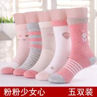 女童袜子秋冬季儿童宝宝小孩非袜中大童春秋季女孩公主中筒袜