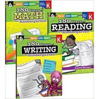 【预订】180 Days of Reading, Writing and Math for Kindergarten