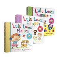 我爱露露系列4册纸板翻翻书英文原版绘本 Lulu Loves Colours Numbers Shapes Noise