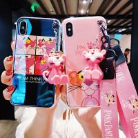 顽皮豹苹果X手机壳卡通iphone8plus蓝光保护软套XR6.1寸苹果6s抖音网红款i7粉豹公仔支