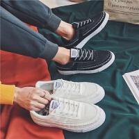 夏季男士鞋子港风低帮运动小白鞋潮流学生休闲鞋