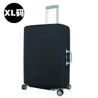 拉杆箱套保护套 耐磨旅行箱罩弹力加厚20/24/28/30寸 黑色XL 29-31寸(是箱套,不卖箱子哦)