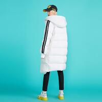 【1件3折价:370.3元】初语白色羽绒服长款女过膝冬装新款宽松韩版白鸭绒时尚外套