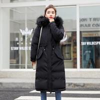 棉衣女中长款韩版加厚冬季装羽绒学生宽松bf过膝外套