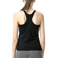 2018年新款长款带罩杯打底工字背心式运动内衣女无钢圈文胸跑步瑜伽健身防震 M适合75a 75b 75c 体重1以内