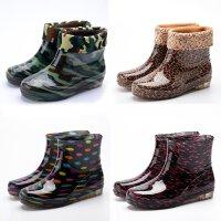 丽L新款春秋雨鞋女中筒厨房耐磨防滑雨靴男迷彩时尚甜美胶鞋