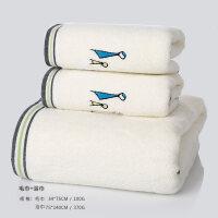 毛巾纯棉洗脸家用柔软吸水加厚全棉洗澡大浴巾男女面巾4条装