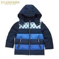 Eland Kids衣恋童装秋冬新品儿童保暖上衣外套男童羽绒服