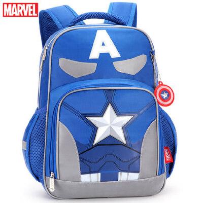 小学生迪士尼书包1-3-4年级男童美国队长6-12岁儿童减负双肩背包 海绵透气背幅