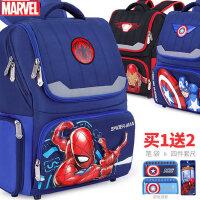 迪士尼美国队长蜘蛛侠小学生书包男童1-3-4年级男孩儿童双肩背包
