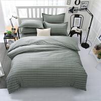 寝室床上三件套宿舍单人被子四件套纯棉全棉床上用品一米五床被套 乳白色 简约畅想 图片色