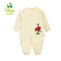 迪士尼Disney 婴儿连体衣纯棉内衣前开扣哈衣爬服153L660