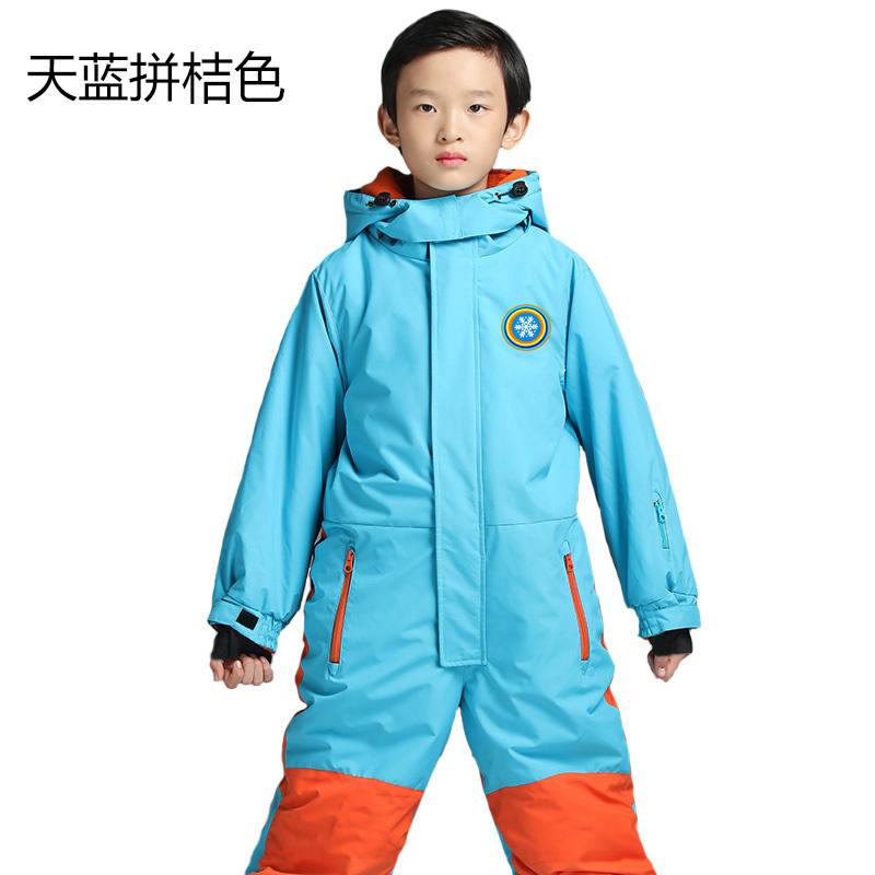 冬季儿童户外连体滑雪服男女童防寒服防水防风保暖加厚雪衣裤套装 发货周期:一般在付款后2-90天左右发货,具体发货时间请以与客服协商的时间为准