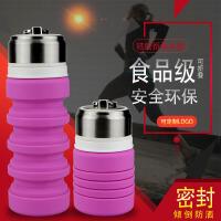 户外折叠便携式硅胶可伸缩旅行水壶大容量创意男女学生可装沸水杯