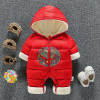 婴儿冬装套装0一1岁新生儿衣服冬季加厚外穿男女宝宝连体衣潮