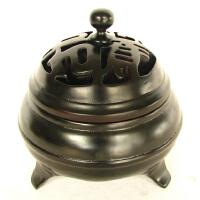紫林轩 香炉修身养性特制如意香炉小号深灰色 大号越南花梨木