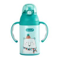 dexbaby一岁宝宝婴儿带吸管儿童学饮水杯 6-18个月防呛漏保温两用