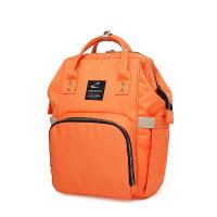 多功能大容量妈咪包 时尚韩版双肩妈妈包孕妇外出包母婴包旅游包 橙色 升级款